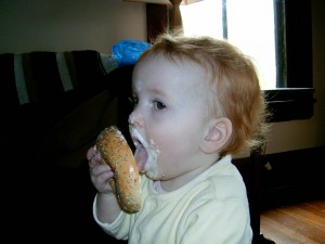 Mmmmm bagel and cream cheese
